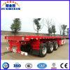 3 de l'essieu 40FT de lit plat de conteneur remorque de camion semi