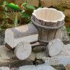 Car de madeira Shaped Flower Plant para o jardim