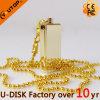 Disco de destello del USB del nuevo del oro mini metal del eslabón giratorio (YT-3204)