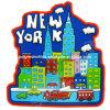 Imán del PVC de la opinión 3D de la ciudad de los imanes del recuerdo de Nueva York