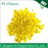 Lampwork dekorative irisierende gelbe farbige Glaskorne