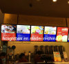Vertoning van de Restaurants van het Snelle Voedsel van de Vertoning van het Menu van de muur de Hangende
