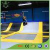Adultes énormes sautent le centre de trempoline pour des sports