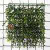 플라스틱 인공적인 정원은 잔디 잎 담을 산울타리로 두른다