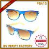 F6415 New Plastic Frames Sunglasses с Bamboo Temples