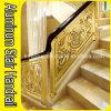 Oro de lujo en color aluminio Escalera Barandilla para Villas