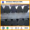 Épaisseur mince 0.5mm-12mm Hot DIP tuyau en acier galvanisé pour échafaudages