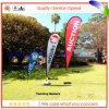 Larme Shape Flying Banners Print Outdoor Banner Printing avec Different Bases Banner