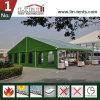 Disegno modulare di alluminio della struttura della tenda del capannone militare con il tessuto verde del PVC