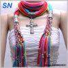 Muliti покрасило шарф способа привесной с ювелирными изделиями (SNSMQ1031)