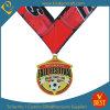 La Chine a personnalisé la médaille d'imitation du football ou du football d'émail de qualité dans la qualité