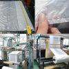 Cara grande lateral transparente del bolso de ropa del escudete del LDPE