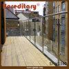 Balustrade en verre de balcon d'acier inoxydable de fini de balai de support d'étage (SJ-H1340)