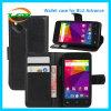 Mappen-Karten-Schlitz PU-lederner Telefon-Kasten für blauen Fortschritt