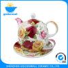 Tasse classique de thé de Chine d'os d'amende de jeu de thé