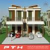 Construcción de viviendas de acero ligera modular prefabricada de lujo del chalet