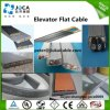 Cable que viaja aislado PVC de la elevación plana