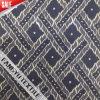 Bella riga tessuto di nylon del merletto del cotone di disegno