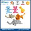 다채로운 애완 동물 제품 면 밧줄 동물성 씹기 개 장난감 애완 동물 젖니가 남 장난감