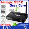 2016 de Krachtigste Androïde Vertoning van de Antenne van de Kern 2g 16g 2.4G/5.8g AC WiFi van Amlogic S912 Octa van de Doos van TV Em92 Voor Digitale