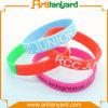 Wristband di gomma del silicone personalizzato modo