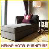 Weinlese-hölzernes Wohnzimmer-Sofa-Leinengewebe gepolsterter Wagen-Aufenthaltsraum
