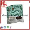 El papel de aluminio plástico se levanta el bolso para el empaquetado de los pedazos del chocolate