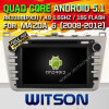 Carro DVD do Android 5.1 de Witson para 2008-2012) frames de prata de Mazda 6 ((W2-A7076) com sustentação do Internet DVR da ROM WiFi 3G do chipset 1080P 8g