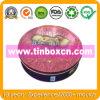 Большая круглая коробка олова металла качества еды для печенья печенья