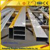Perfil quadrado de alumínio da câmara de ar do revestimento de alumínio do pó do perfil da extrusão