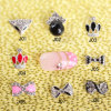 100PCS Nail Art Decoration Alloy Jewelry Colorful Glitter Rhinestone Shiny Bow