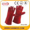 De roodgloeiende Bestand Handschoenen van het Werk van het Lassen van het Leer van de Zweep van de Bedrijfsveiligheid (11105)