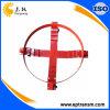 4つの車輪の赤いスチールドラムのトロッコ