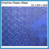 Ondinha Modelado Vidro/ Figurado Vidro de Diamante de 3-6mm Azul com CE&ISO9001