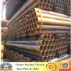Низкая цена Shelf Low Carbon Black ERW Steel Pipes и Tubes