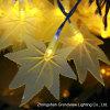 Luz colorida da corda de 100 diodos emissores de luz da forma das folhas de plátano