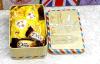 Kleiner Zinn-Hochzeits-Kasten-/Zinn-Süßigkeit-Kasten-/Tin-Geschenk-Kasten
