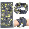 Выполненный на заказ шарф напечатанный логосом выдвиженческий безшовный