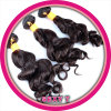 100%の実質のバージンのインドの人間の毛髪のよこ糸(KBL-IH-LW)