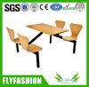 4-Seat en bois Fast Food Restaurant Desk et Chair (DT-08)