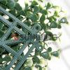 작은 인공적인 잎 산울타리 정원 담
