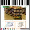 大型スーパーマーケットのスーパーマーケットの表示棚のゴンドラの棚
