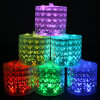 태양 LED 다채로운 팽창식 Foldable 야영 가벼운 손전등 밤 램프