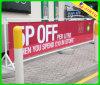 Protección ULTRAVIOLETA al aire libre que hace publicidad de la bandera de la cerca del PVC