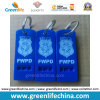 Горячий продавая тип логос голубого свистка плоский W/Custom отпечатывая ключевое кольцо