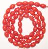 XG-BE125方法宝石類の楕円形の赤い珊瑚のビード