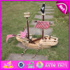 2015 DIY relativos à promoção 3D Wooden Toy Pirate Ship, Handmade Kid Wooden Pirate Ship Toy, Wooden Toy Pirate Ship para Exhibition W03b001