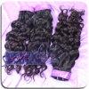Natural Full Color cutícula italiano Curl brasileño de la Virgen de la armadura del pelo