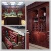 2015 [Welbom] conceptions professionnelles de cuisine de famille en bois rouge foncé de cerise de Hangzhou