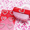 Coeur Rhinestone Sticker Acrylic Gem Sticker pour la boîte-cadeau